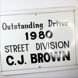 Other - Vtg 1980 Outstanding Driver Metal Sign